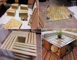 Diy Woodworking Coffee Table by Diy Coffee Tables Out Of Reclaimed Crates Pallet Furniture Diy