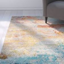 Area Rugs Barrie Well Woven Modern Bright Paint Splash Abstract Multi Area Rug 7