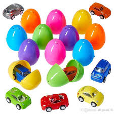 filled easter eggs 6 4cm colorful easter eggs filled plastic mini pull back vehicles