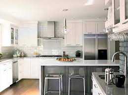 Contemporary U Shaped Kitchen Designs Stainless Steel Furniture Such As Silver Cabinet Neutral Kitchen
