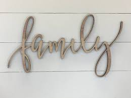 family wooden wall word sign wooden word wooden words