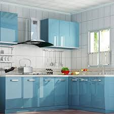 contact paper for kitchen cabinets glossy blue self adhesive pvc contact paper kitchen cupboard shelf