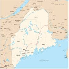 Map Of Maine Towns Maine State Map Usa Maine State Map Coloring Page Maine State
