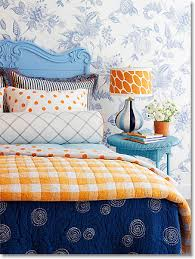 Orange And White Bedroom Blue Bedrooms Bedroom Color Ideas For A Cool Calm Sanctuary