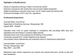 Commercial Truck Driver Resume Sample by Truck Driver Resume For Skills Reentrycorps