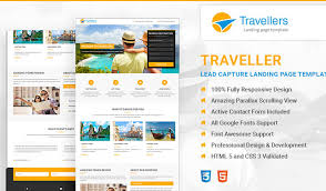 travel landing page template html lead generating template olanding