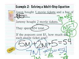 2 3 solving multistep equations combining like terms word