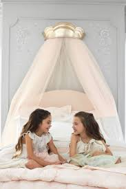 girls bed crown gold cornice crown canopy from the new pottery barn kids