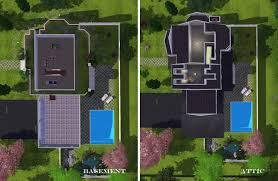 mod the sims the white wood house with split level stairs 4