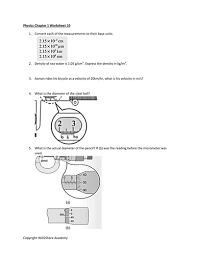 complete unit conversion prefixes density micrometer and
