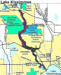 map of kissimmee kissimmee river information guide florida fishing