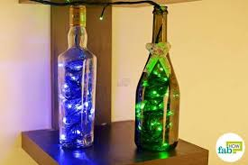 Wine Bottles With Lights Best Diy Decoration Ideas To Brighten Up Your Homes This Diwali