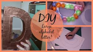 diy large alphabet letter craft home decor pinterest inspired