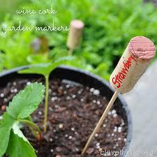garden markers wine cork garden markers cleverly inspired