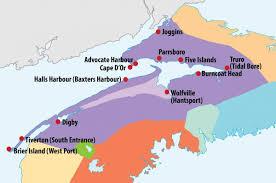 Nova Scotia Canada Map by Bay Of Fundy Tides Tourism Nova Scotia