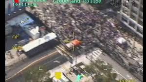 Flag Burning Protest Cleveland Police Helicopter Video Of Arrests During Rnc Flag