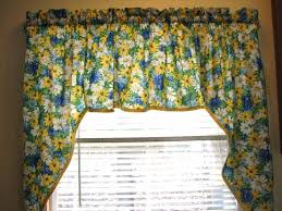 Blue Swag Curtains Blue Yellow And White Kitchen Kitchen Window Swag Curtain Blue