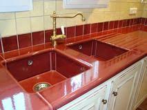 lave cuisine plan de travail de cuisine en lave émaillée couleur bourgogne