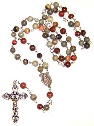 rosary kits silver leaf agate beaded rosary kit