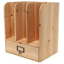 amazon com rustic freestanding wood tabletop bookshelf magazine