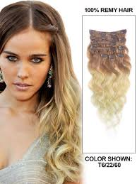 ombre extensions inch fancy wave clip in hair extensions three tone ombre 9 pieces
