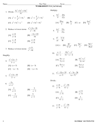 worksheet 11 dividing polynomials 9th 10th grade lesson plan