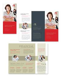 accounting u0026 tax services tri fold brochure template