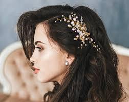 gold headpiece gold leaf headpiece etsy