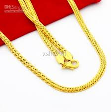 best gold chain necklace images 2018 high quality vacuum plating 24k gold snake chain necklace jpg
