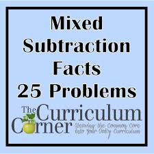 subtraction timed tests the curriculum corner 123