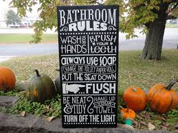 bathroom decor bathroom rules sign bathroom sign home