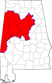 Montgomery Al Zip Code Map by Area Code 205 Wikipedia