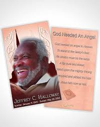 bifold order of service obituary template brochure summer ruby