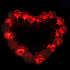 Red Heart Fairy Lights by Compare Prices On Wedding Decoration Light Roses Online Shopping