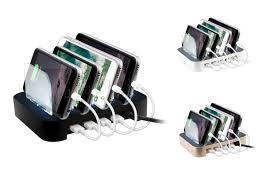 surgit 4 port usb rapid charging station for smartphones u0026 tablets