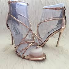 duende boudoir size 7 light gold strappy heels by steve madden