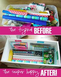 wrapping station ideas 25 ways to organize your gift wrapping one thing by jillee