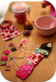 pretend play tea bags for tea parties made from fabric scraps