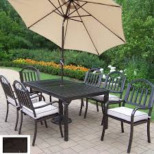 Wrought Iron Patio Dining Set Shop Oakland Living 7 Cushioned Wrought Iron Patio Dining
