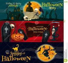 set of halloween party banners background with torn paper and