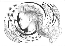 tribal ballpoint pen and pencil by skunkhughest on deviantart