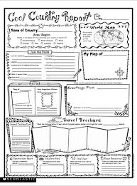 country report template middle school country research project high school professional and high