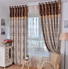 rideaux chambre à coucher meilleur moderne draps mélange de coton géométrique café chambre à