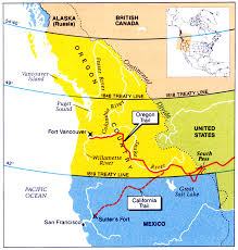 map of oregon country 1846 mexican war maps