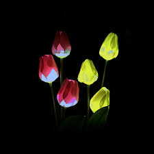 tulip solar path lights lumiparty led solar powered tulip flower lights garden outdoor