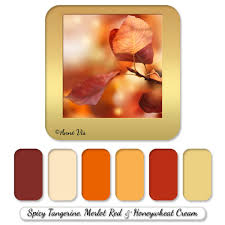 rustic autumn leaves wedding color palette spicy tangerine