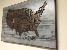 american map wall decor wood wall art carved united states map