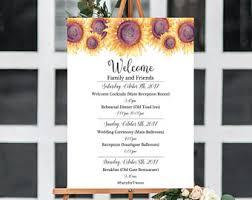 Sunflower Wedding Programs Sunflower Program Etsy
