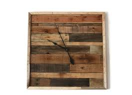 reclaimed wood wall large large rustic pallet wood wall clock 30 x 30