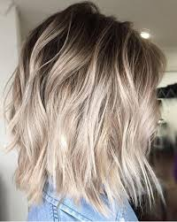blonde hair with dark roots ash blonde balayage bob style with dark roots 2017 hollysoly